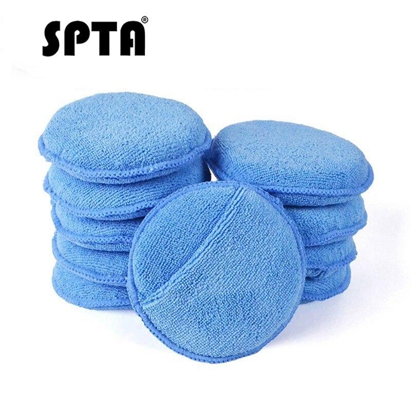 SPTA Ultra Soft Microfiber Car Wax Applicator Pad 10pcs 5