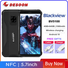Blackview bv5100 ip68 impermeável 4gb + 64gb telefone móvel 5580mah 5.7