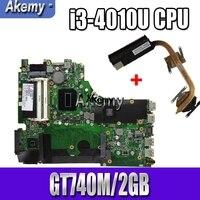 Для ASUS X750JN X750JB X750J A750J K750J материнская плата для ноутбука Mianboard i3-4010U процессор GT740M/2 ГБ Бесплатный радиатор