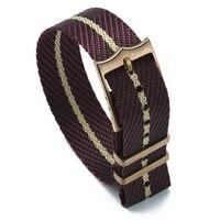 Premium otan strap 20mm 22mm substituição de náilon pulseira de relógio pulseira ajustável náilon relógio banda única passagem estilo para tudor