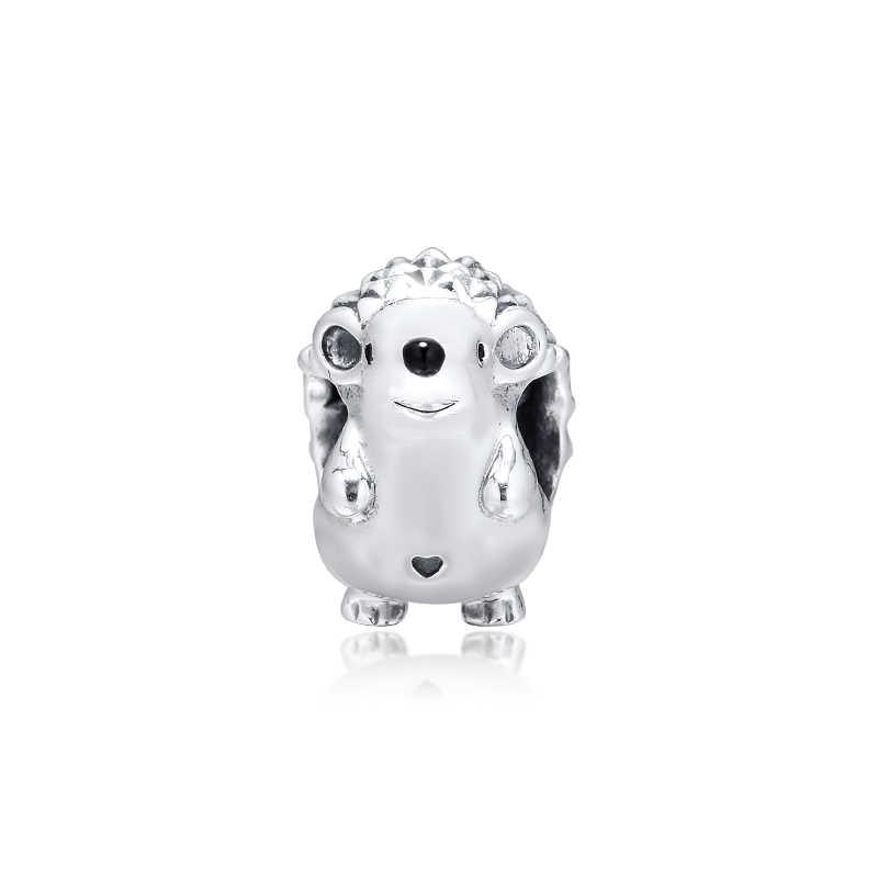 100% Real 925 Sterling Silver Beads Nino the Hedgehog Charm Fits Pandora  Charms Silver 925 Original Bracelets Wholesale kralen