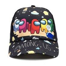 Among Us Cartoons Game Children's Cap Fashion Adjustable Casual Street Baseball Caps Boys Girls Print Sun Hat baby Birthday Gift