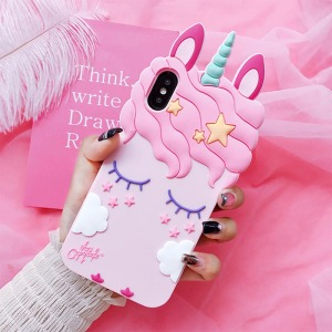 3D Cartoon Unicorn Case Soft Silicone Cover for Huawei P30 Pro P20 Lite P10 P9 P8 P Smart Plus Mate 10 20 Y3 Y5 Y6 Y7 Y9 Prime(China)