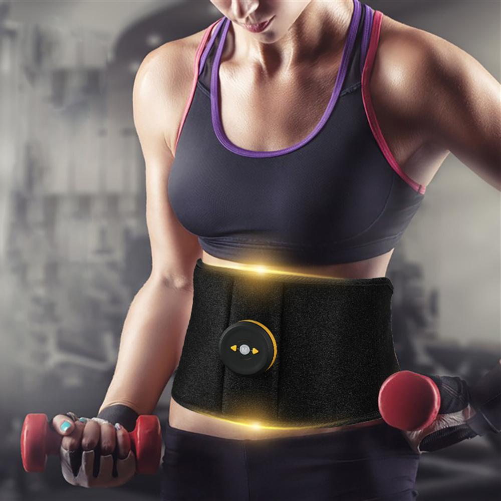 Vibração muscular abdominal fitness trainer massageador apoio da cintura ems queima de gordura estimulador para emagrecimento corpo cinto perda de peso