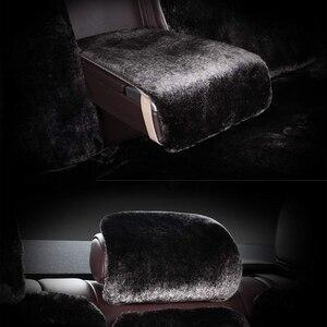 Image 5 - 車のシートクッションのオーストラリア羊毛クッション新豪華な車のマット冬のシートクッション毛皮のシートカバー