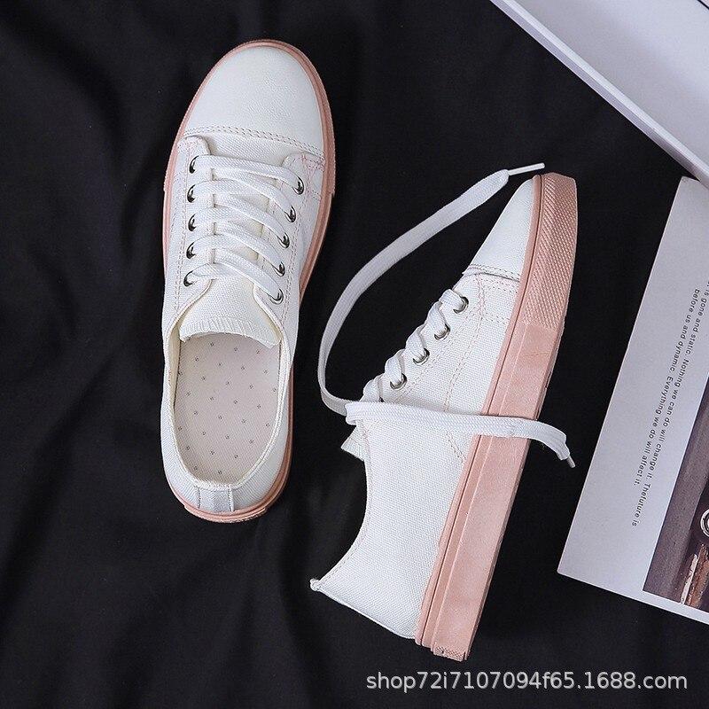 Kanvas ayakkabılar kadın öğrencİ ayakkabı çocuk 2019 moda ayakkabılar yeni stil yaz kore tarzı beyaz ayakkabı kadın nefes Sho title=
