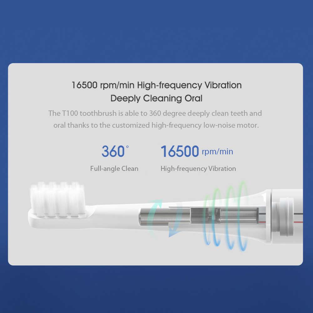 Xiaomi Mijia T100 Sonic elektryczna szczoteczka do zębów dla dorosłych Ultra sonic automatyczna szczoteczka do zębów USB akumulator IPX7 wodoodporny