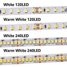 5V 12V 24 V Led taśma świetlna 5m SMD 2835 60 led/m ciepły biały 5V 12V 24 V LED listwa oświetleniowa 5 12 24 V Volt taśma lampa diodowa Home Decor