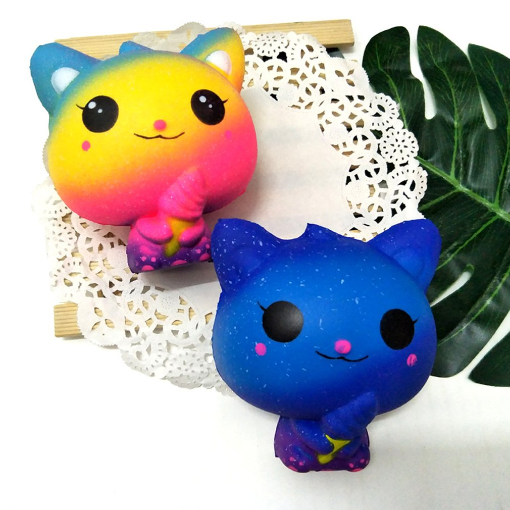 Ice Cream Cat Pu Squishy Slow Rebound Decompression Toy Cat Toy A Toy That Squeezes Slowly And Slowly Rebounds