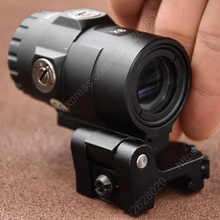 Tactical Trijicon Mro Red Dot Sight 3x lente d'ingrandimento portata del fucile per QD Side Flip Picatinny Mount Base R4439