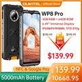 OUKITEL WP8 Pro прочный мобильный телефон 4G смартфон 4 Гб 64 Гб 5000 мАч Восьмиядерный мобильный телефон NFC 16MP тройной Камера 6,49 ''Android10 смарт-чехол для ...