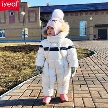 IYEAL Newest Winter Children Baby Clothes Hooded Natural Fur Thicken Warm Rompers
