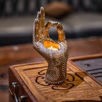 Bergamot Candle Holder Retro Bronze/gold Desktop Decor Candlestick Aromatherapy Candle Holders For Meditation Yoga Art Ornaments 1