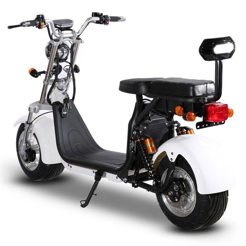 Электрический мотоцикл с EEC взрослых Citycoco с мотором 1500W Мощность съемный Батарея 60V электрический скутер с 10 дюймов шины