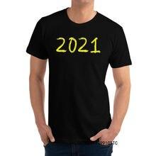 Novo design de boas-vindas ano novo ouro nove t-shirts crewneck todo o algodão estudante topos camisetas