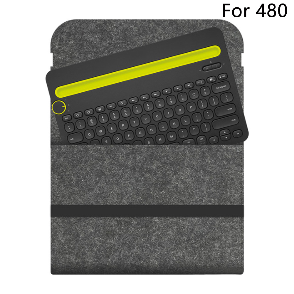 Travel Flexible Storage Cover Portable Felt Carrying Case Protective Keyboard Bag Accessories Anti Shock For Logitech K480