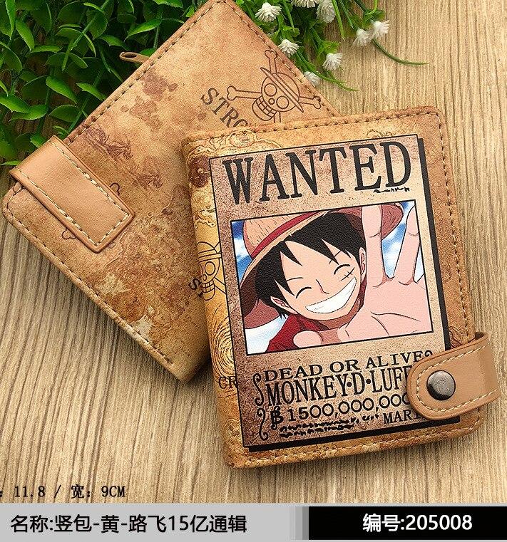 Аниме цельная Обезьяна D. Короткий кошелек Luffy из искусственной кожи, многослойный держатель для карт, кошелек|Кошельки|   | АлиЭкспресс