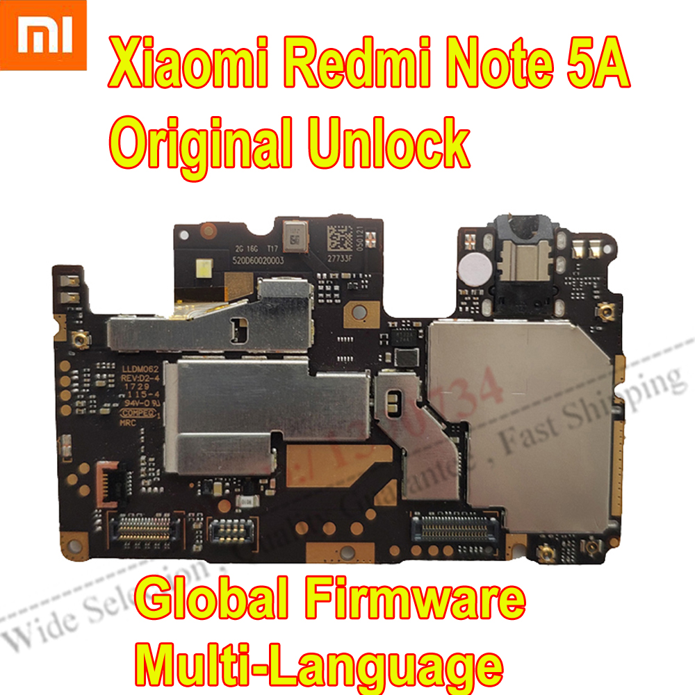 Original Global Firmware Used Test Working Unlock Mainboard For <font><b>Xiaomi</b></font> <font><b>RedMi</b></font> Note <font><b>5A</b></font> <font><b>Motherboard</b></font> Circuits Card Fee Flex Cable image