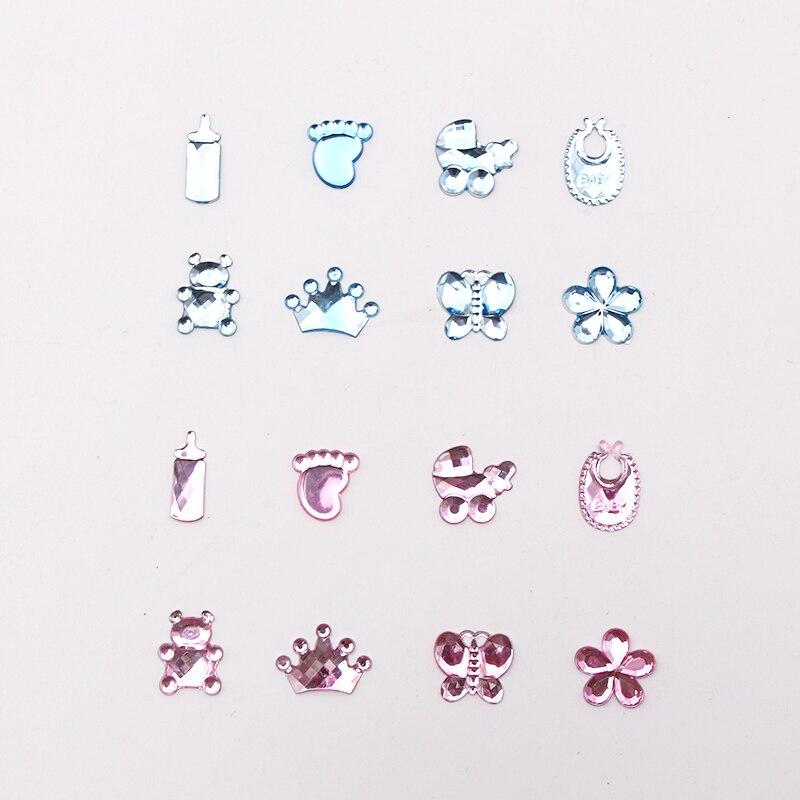 8 estilos de 100 pçs acrílico rosa azul mix projetos festa diy decoração para crianças criança menino menina festa mesa diy decoração clássico