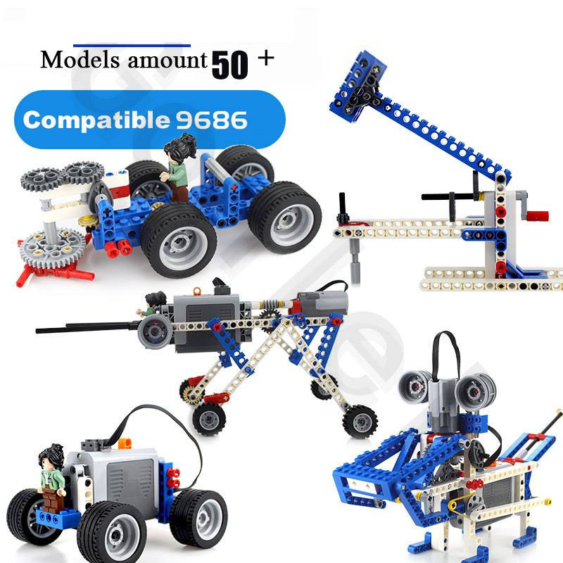 Compatible With Logoes Technic 9686 DIY Building Blocks Parts.Motor Battery Box Aid Set For Technology MOC 9686