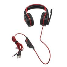 EACH G4000 Stereo Gaming Headphone Headset Headband with Mic Volume Control Noise Cancelling Gaming Gamer Headphone(China)