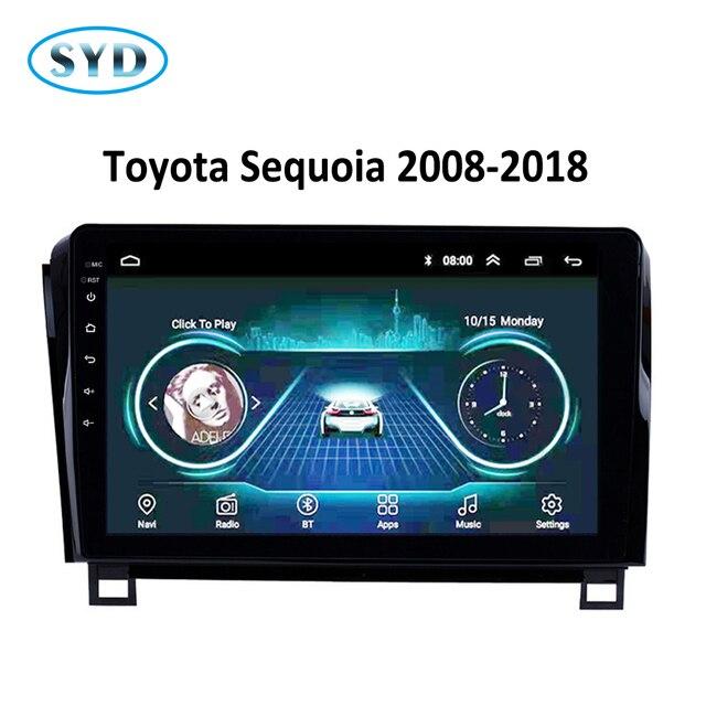 Autoradio pour Toyota 2007-2013 Sequoia 2008-2018 | Appareil de tête de système multimédia Android 8.1, 10