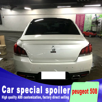 high quality ABS material spoiler for 2010 to 2015 for peugeot 508 spoiler by rear trunk rear wing spoilers primer or paint for bmw f10 high kick big trunk spoiler wing frp unpainted m5 style 5 series 520i 525i 528i 535i 550i wing rear spoiler 2010 17