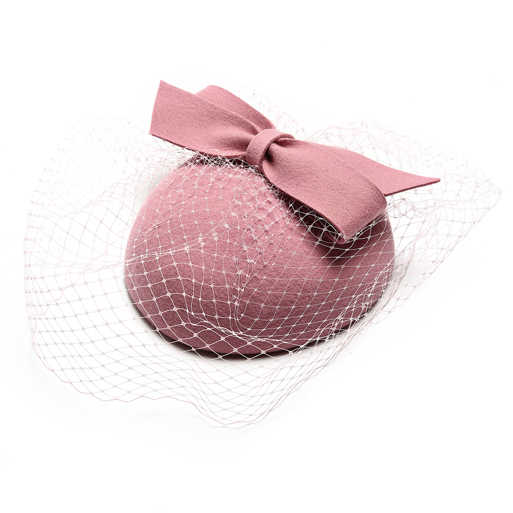 Church Hats For Women Elegant Pink Wedding Fedoras