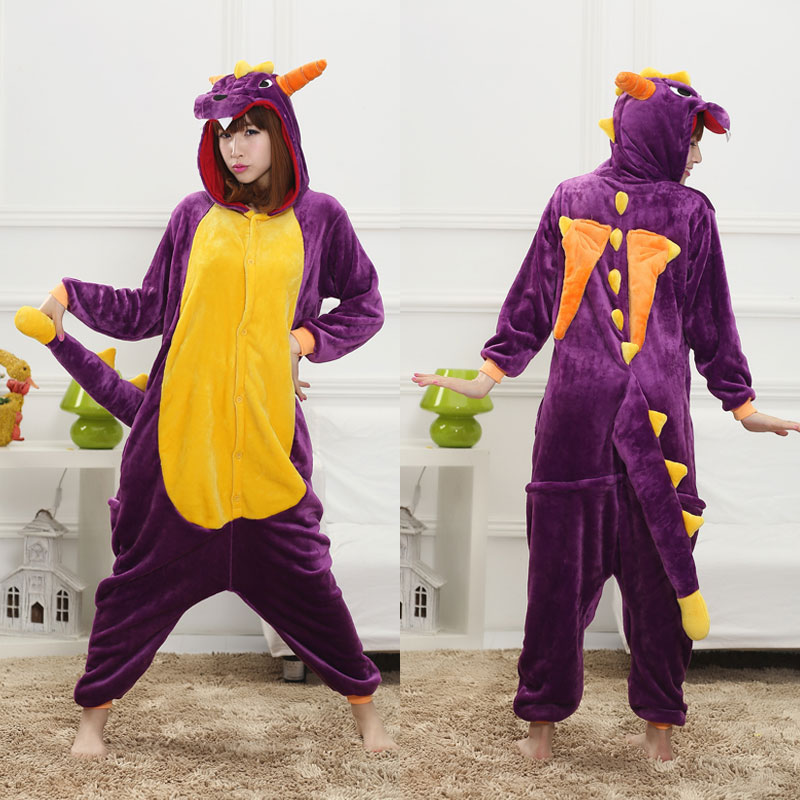 Women Onesies Cartoon Animal Kigurumis Spyro Unicorn Pikachu Pajamas Adult Girls Warm Soft Overall Winter Cute Funny Suit Unisex