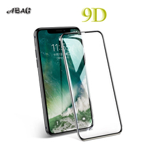 9D protectiveTempered glass for iPhone 6 6S 7 8 plus X glass on iphone 7 6 8 X R XS MAX screen protector iPhone 7 6 flim militech 6 x 8