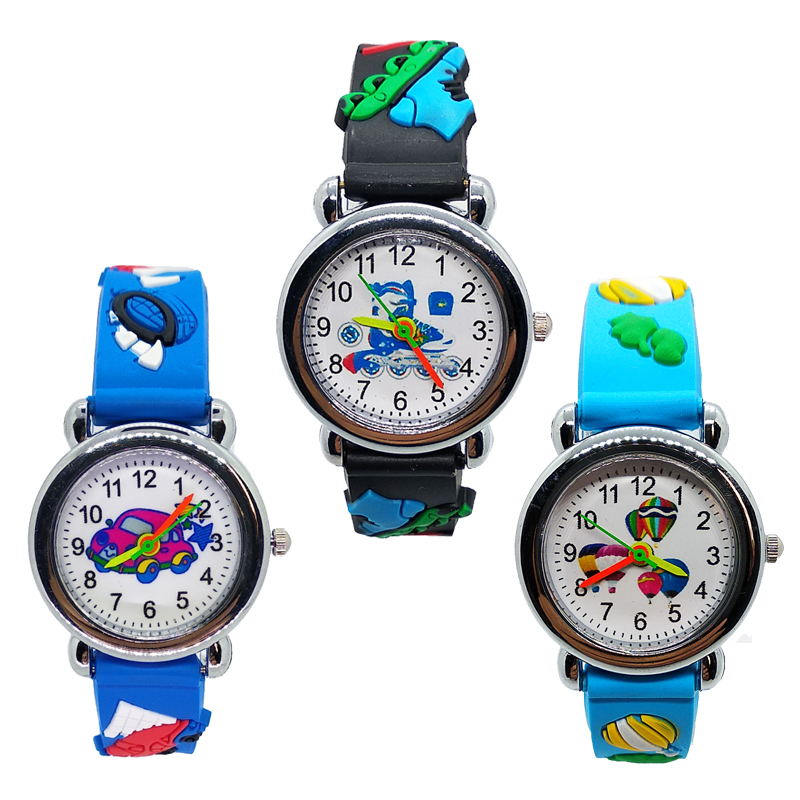 Wholesale Cartoon Car Story Kids Watches Boys Students Clock Skates Quartz Children Watch Girls Child Sports Bracelet With Time