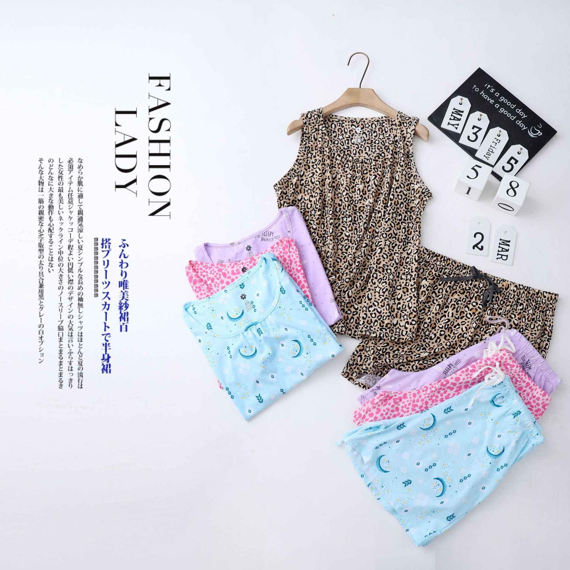 여름 아늑한 민소매 반바지 잠옷 세트 여성 잠옷 한국 섹시한 o-넥 반바지 잠옷 귀여운 만화 여성 잠옷