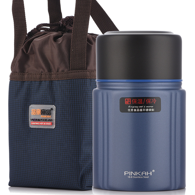 PINKAH Spacious Stewing Pot Large Capacity 304 Stainless Steel Insulated <font><b>Container</b></font> Braised Beaker Cup 750 Meal Box image