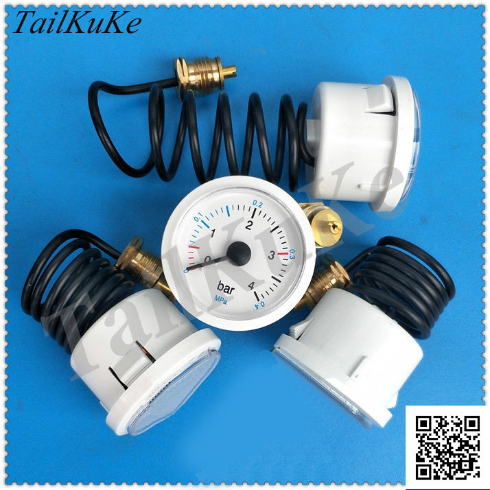0~4BAR Capillary Wall-hanging Furnace Pressure Gauge Gas Wall-hanging Furnace Hot Water Pressure Meter