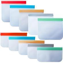 Многоразовые силиконовые пакеты для хранения еды, пакеты для хранения морозильников, сэндвичей, хлеба, бекона, рыбы, мяса, курицы, сумка для хранения