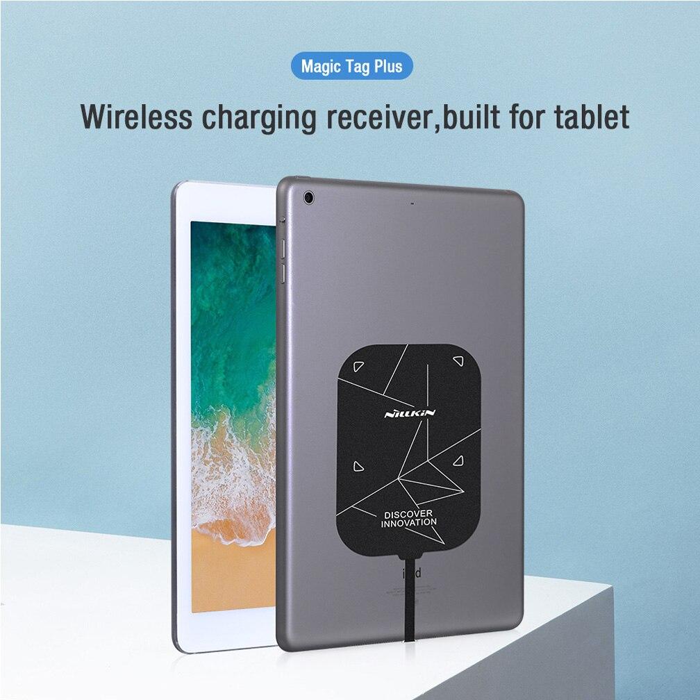 Универсальный Qi беспроводной зарядный приемник Nillkin Magic Tags Plus Lightning / Type C адаптер для iPad