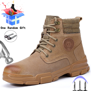 Męskie buty stalowa nasadka na palec obuwie ochronne męskie buty do pracy niezniszczalne buty robocze buty zimowe męskie buty ochronne buty przemysłowe tanie i dobre opinie MJYTHF Pracy i bezpieczeństwa CN (pochodzenie) Prawdziwej skóry Skóra bydlęca ANKLE Stałe Dla dorosłych Mesh Świńskiej
