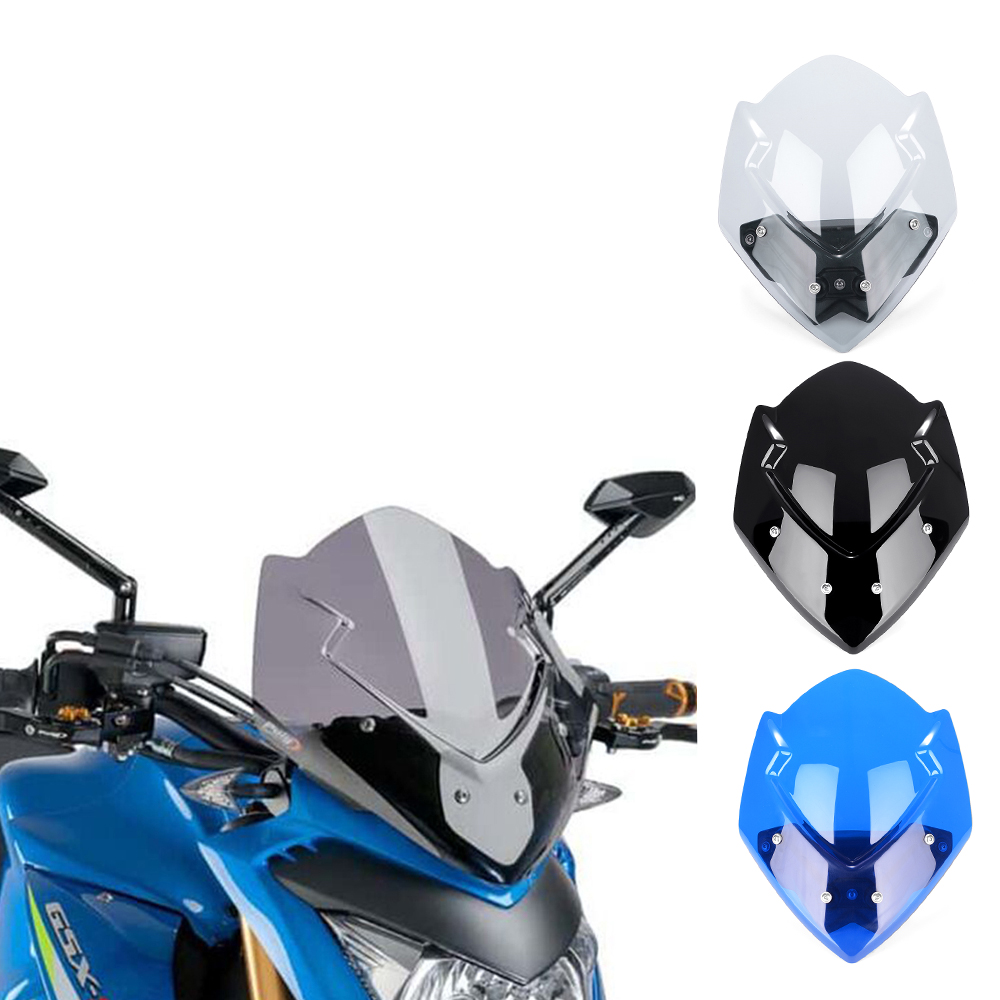 GSX-S1000 New For Suzuki GSX-S1000 GSXS 1000 2016 2017 2018 2019 GSXS1000 Motorcycle Windshield Windscreen Shield Screen image