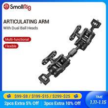 """SmallRig Kugelkopf Verlängerung Bar für Magie Arme (1/4 """"Schrauben) mit 2 Kugelkopf Clamp Zu Montieren LCD Monitor Magie Arm Clamp   2109"""