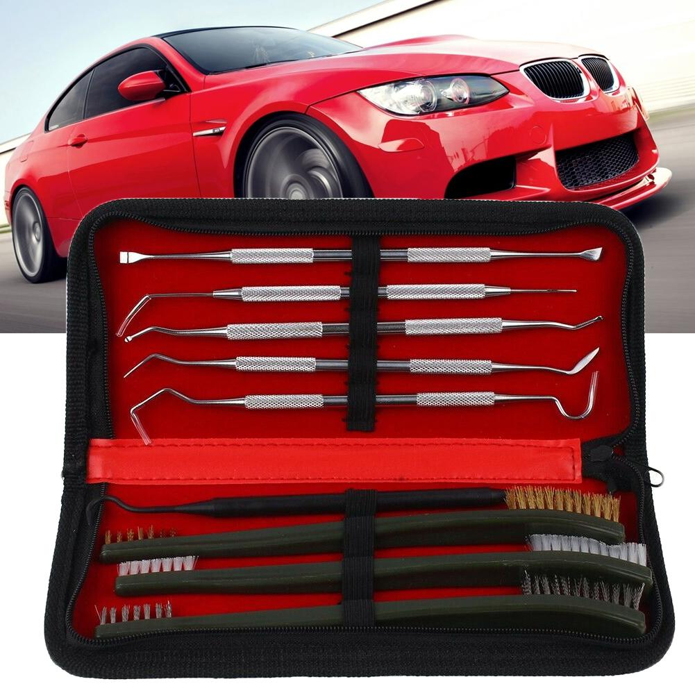 Car Washing Spray Tool Tube Cleaning Brush Stainless Steel Plastic Pick Tool Kit Automobile Carros Interior New Hot Accessories
