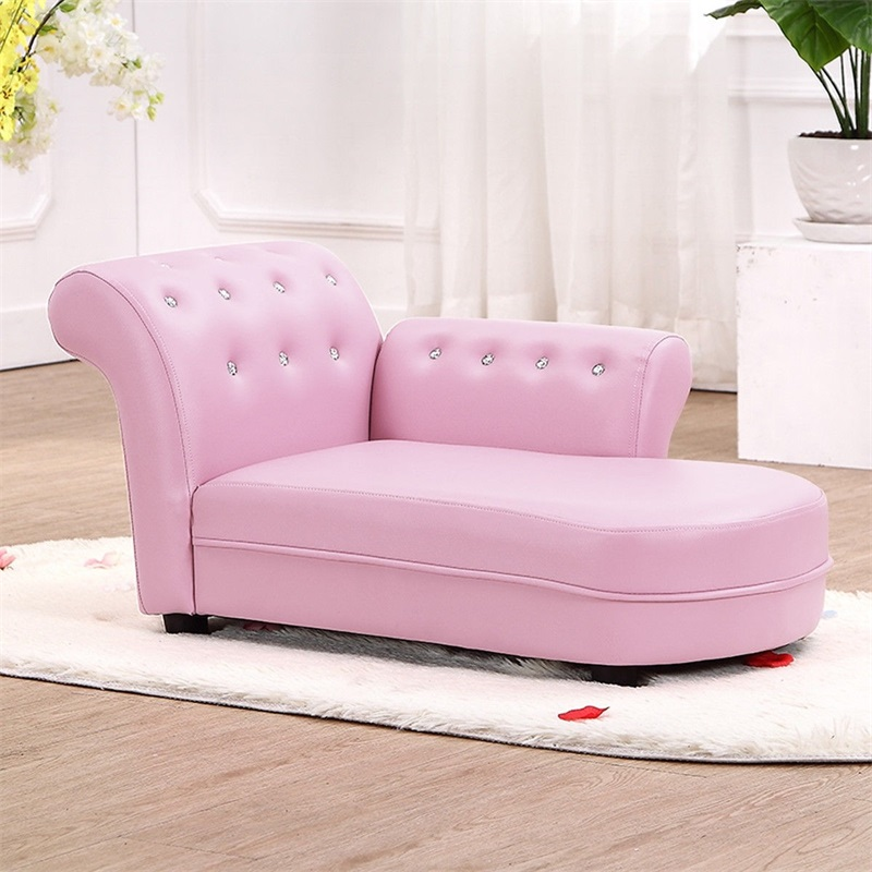 Armrest Relax Chaise Lounge Kids Sofa Gorgeous Gem-studded Armrest Durable And Lightweight Construction Relax Sofa HW57078