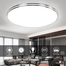 Ultra mince LED plafonnier LED moderne panneau lumineux 72W 36W 24W 18W 12W 220V chambre cuisine Surface montage encastré panneau lumineux