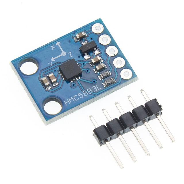 50 יח\חבילה GY 273 GY273 HMC5883L מודול לשלושה ציר מצפן מגנטומטר חיישן 3 V 5 V משלוח חינם