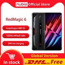 DHL Бесплатная Nubia красный Магия 6 игровой смартфон глобальная версия 6,8 ''165 Гц активно-матричные осид, Snapdragon 888 Octa Core 30W зарядное устройство рам...