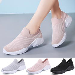 Women Tennis Shoes Breathable Mesh Woman Sport Shoes Slip-on Female Sock Footwear Women Sneakers Outdoor Flats Tenis Feminino