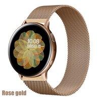 Magnetische Loop Voor Samsung Galaxy Horloge Actieve 2 3 44Mm 45Mm 46Mm Amazfit Gts 2 Bip 20mm 22Mm Armband Hauwei Horloge Gt 2 3 Riem