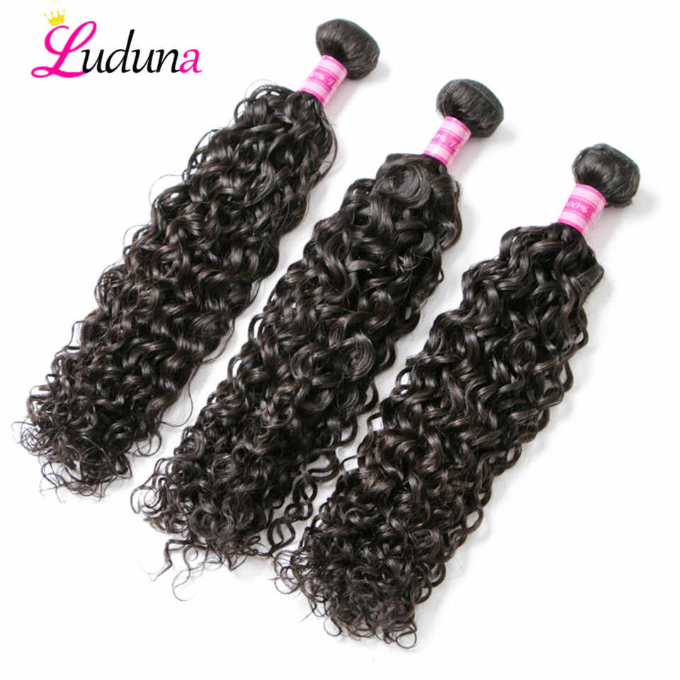 Water Wave Bundles Malaysian Hair Weave Bundles 1/3/4 Bundle Deals 100% Human Hair Extension Remy Hair Super Double Drawn Luduna