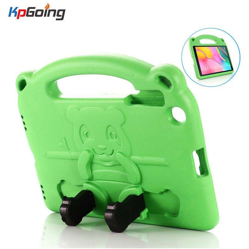 Kids Panda Case for Samsung Galaxy Tab A 10.1 2019 SM-T510 T515 Shockproof EVA Full Body Stand Cover Handle Case Safe Fundas image