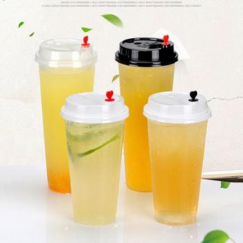10 sztuk kubek do BubbLe Tea odporna na wysokie temperatury tworzywo PP bezpieczne dla żywności jednorazowe plastikowe filiżanka do mleka i herbaty kubek do soku przezroczysty tanie i dobre opinie CN (pochodzenie)