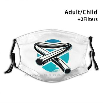 Tubular Bells adultos niños lavable máscara facial divertida con filtro Tubular Bells...